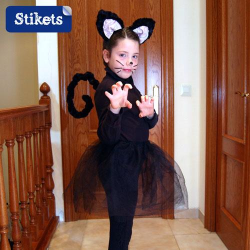Costume da gatta o gatto stikets club - Disfraces de gatitas para nina ...