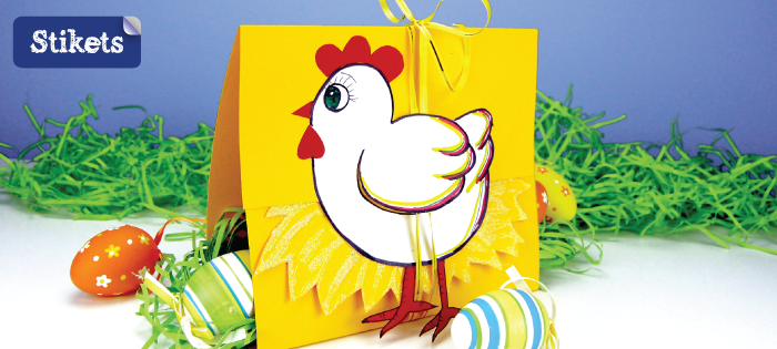 Gallina di Pasqua in carta