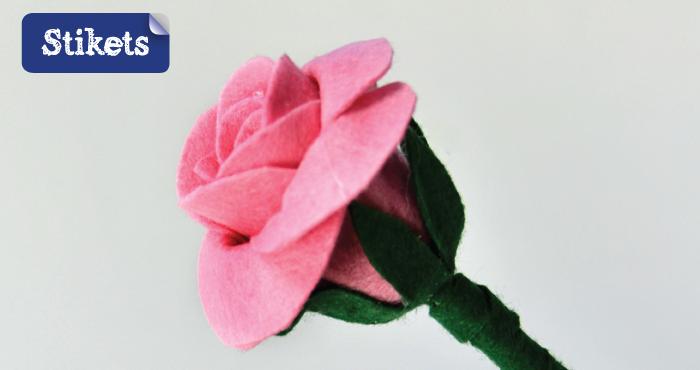 Rosa di feltro