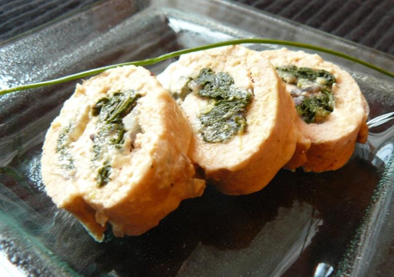 Involtini di pollo e spinaci
