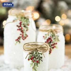 Un tocco natalizio ai tuoi barattoli di vetro