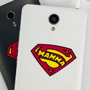 Adesivo simbolo Supermamma per cellulare