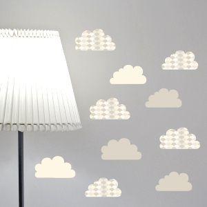 Decorazione Nuvole in grigio cenere