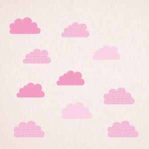 Decorazione Nuvole in rosa con stelle