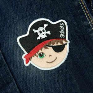 Patch Ricamata termoadesiva  Pirata Bimbo