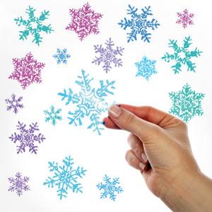 Adesivi trasparenti Fiocchi di neve