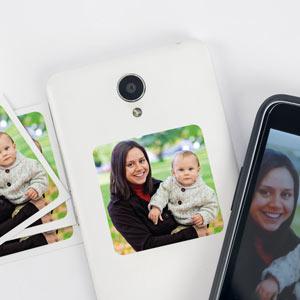 Adesivo con foto per cellulare (8 pezzi)