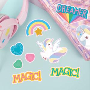 Adesivi Unicorno e Arcobaleno