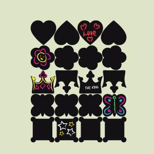 Etichette di lavagna collezione Principessa