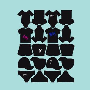 Etichette di lavagna collezione Vestiti